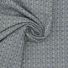 Jacquard 100% cotton - denim blue