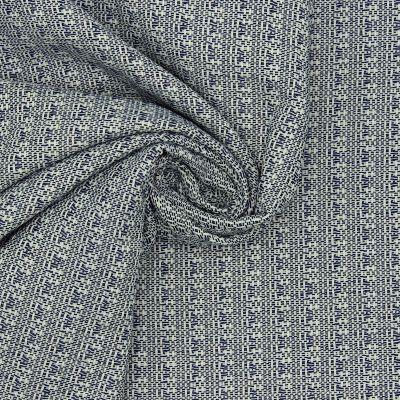 Jacquard 100% coton bleu jean's