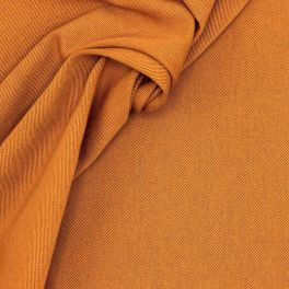 Cotton with twill weave - rust