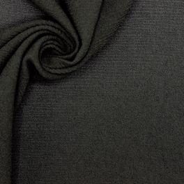 Gestructureerd rekbare polyesterstof - zwart