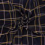 Tissu viscose noir à carreaux