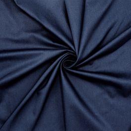 Satijn van katoen - marineblauw