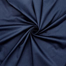 Satin of cotton - navy blue