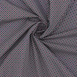 Tissu en coton  imprimé géométrique