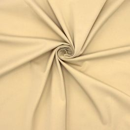 Stretch cotton with twill weave - beige