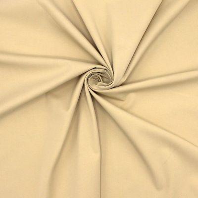 Tissu en coton sergé stretch beige