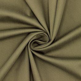 Coton extensible ligne côtelée kaki