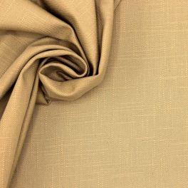 Tissu en coton sergé flammé beige