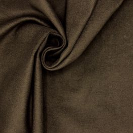 Extensible cotton with brushed aspect - catechu