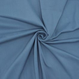 Extensible cotton with ribbeld stripes - blue