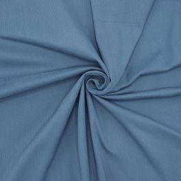 Rekbare katoen met geribbelde strepen - blauw