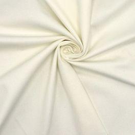 Tissu en coton sergé stretch blanc cassé