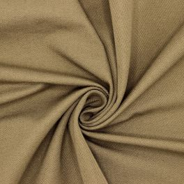 Stretch cotton with twill weave - khaki