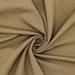 Tissu en coton sergé stretch taupe