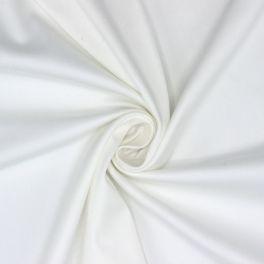 Satin de coton stretch blanc