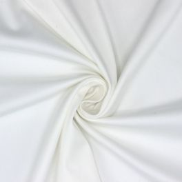 Stretch satin of cotton - white