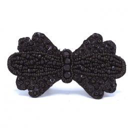 Noeud noir à perles à coudre