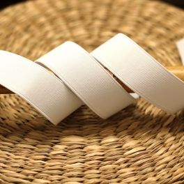 Elastique côtelé blanc
