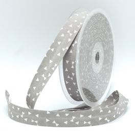 Bias binding with white triangles - grey