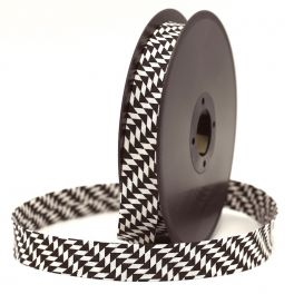 Bias binding with geometric patterns - black and white