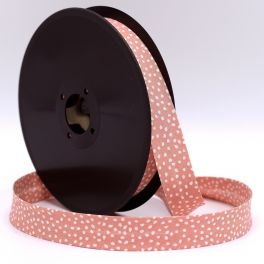 Bias binding with white dots - pink