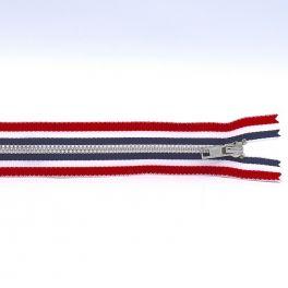Zipper in metal - multicolored