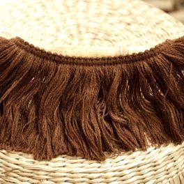 Galon à franges brun