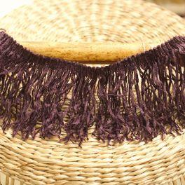 Braid trim with fringes - plum