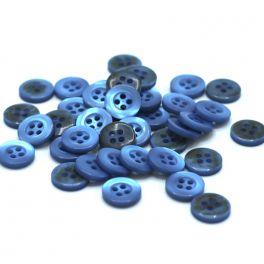 Boutons en résine bleu