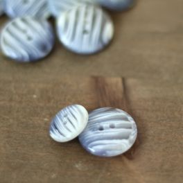 Resin button - lavender and off white