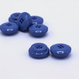 Bouton rond en résine bleu