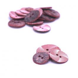Vintage pearly button - tomette and white
