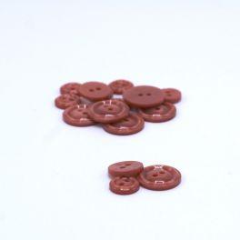 Round resin button - tea pink