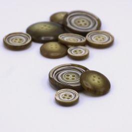 Resin button - khaki