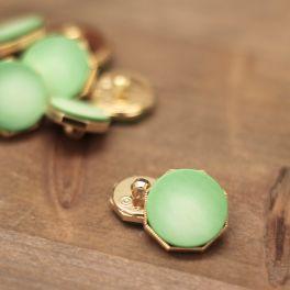 Fantasie knoop - groen en goud