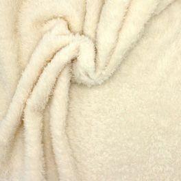 Polyester sherpa fabric - ecru