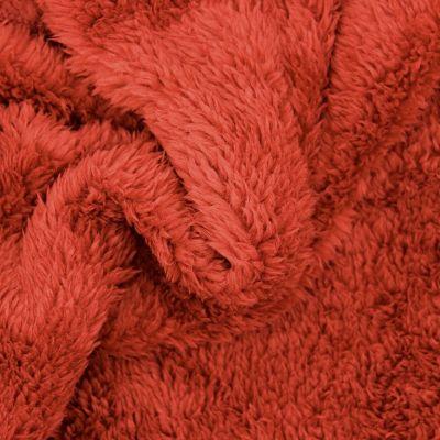 Tissu polyester sherpa tomette