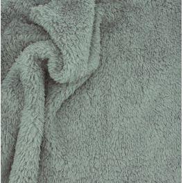 Polyester sherpa fabric - dark grey