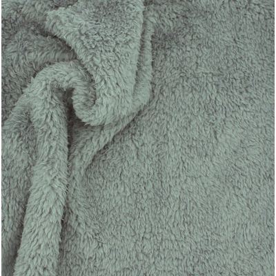 Polyester sherpa fabric - dark grey
