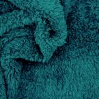 Polyester sherpa fabric - peacock blue