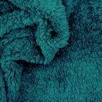 Tissu polyester sherpa paon