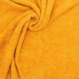Tissu éponge hydrophile en coton moutarde
