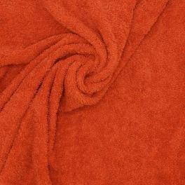 Tissu éponge hydrophile coton terracota