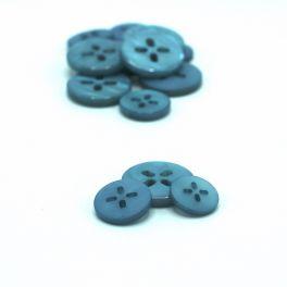 Resin button - blue