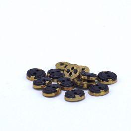 Ovale knoop - blauw en goud