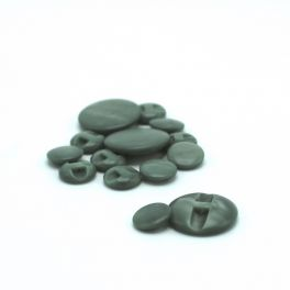 Resin button - marbled green