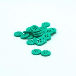 Bouton rond en résine turquoise