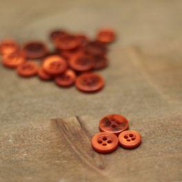 Bouton rond orange brûlée