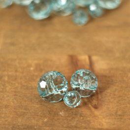 Boutons en résine bleu transparent