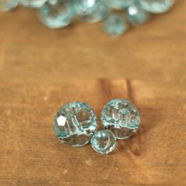 Resin button - transparent blue
